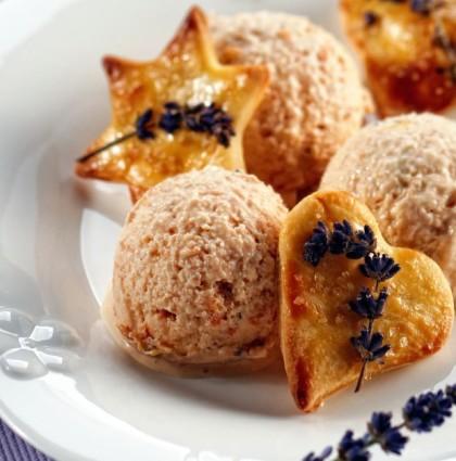 Lody lawendowo – morelowe z kruchymi ciasteczkami