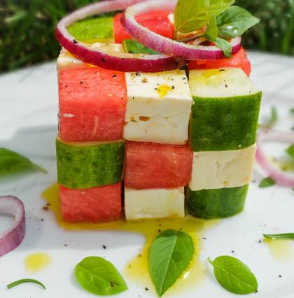 Nowoczesna sałatka grecka